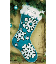 Flurries Stocking Felt Applique Kit-19inches Long