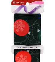 Singer Christmas Ornaments Satin Ribbon 2 1/2inches x 9ft.