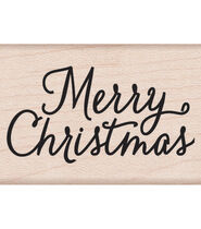 Hero Arts Mounted Rubber Stamps 2inchesX1.5inches-Merry Christmas