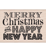 Hero Arts Mounted Rubber Stamps-Merry Christmas and Happy New Year