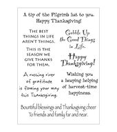 Stampers Anonymous Words To The Rescue Clear Stamp Set Thanksgiving