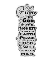 Stampendous Christmas Cling Rubber Stamp Glory To God
