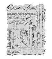 Stampendous Christmas Cling Rubber Stamp Christmas Background