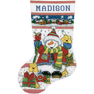 Design Works Counted Cross Stitch Kit Snowman Fun Stocking