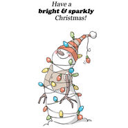 Art Impressions Christmas 2013 Cling Rubber Stamp Set Lighted Snowman