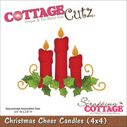 CottageCutz Die Christmas Cheer Candles