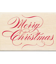 Inkadinkado Christmas Mounted Rubber Stamp Merry Christmas