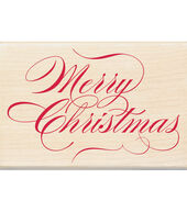 Inkadinkado Christmas Mounted Rubber Stamp Merry Christmas