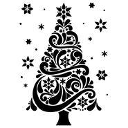 Darice Embossing Folder Christmas Tree