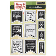 Penny Black Cling Rubber Stamp Christmas Banner