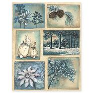 Penny Black Christmas Sticker Sheet Starry Night