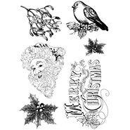 IndigoBlu Cling Mounted Stamp Retro Christmas