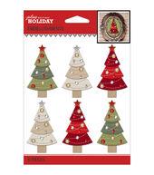 Jolees Christmas Stickers-Christmas Trees
