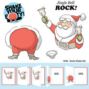 Art Impressions Christmas Cling Rubber Stamp Santa Shake