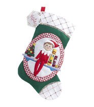 Elf On The Shelf Scout Elf Stocking Felt Applique Kit-18inches Long