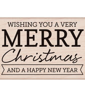 Hero Arts® Wood Mounted Rubber Stamp-Christmas  and  New Year