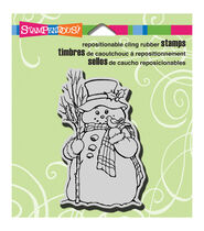 Stampendous Christmas Cling Rubber Stamp 3.5inchesX4inches Sheet-Country Snowman