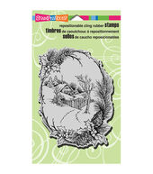 Stampendous Christmas Cling Rubber Stamp 4inchesX6inches Sheet-Christmas Cottage