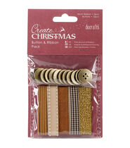 Papermania Create Christmas Bead and Ribbon Pack-Bronze