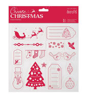 Papermania Create Christmas Clear Stamps 8inchesX8inches-Merry Christmas