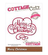 CottageCutz Elites Merry Christmas Dies