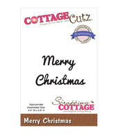 CottageCutz Expressions Merry Christmas Dies