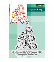 Penny Black Cling Rubber Stamp 5inchesX7.5inches Sheet-Oh Christmas Tree