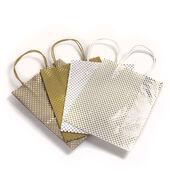Coredinations Metallic Foil Polka Dot Gift Bags 4 Pack