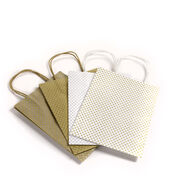 Coredinations Glittery Polka Dot Gift Bags 4 Pack