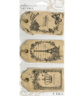 Jolees Boutique Parisian Vintage Etching Gift Tags