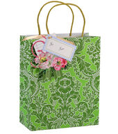 Anna Griffin Green Damask Cub Gift Bag 4 Count