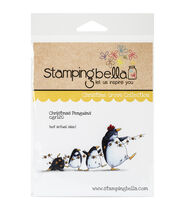Stamping Bella Christmas Penguins Cling Rubber Stamp