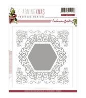 Precious Marieke Embossing Folder-Charming Christmas