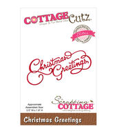 CottageCutz Elites Die-Christmas Greetings