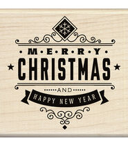 Inkadinkado® Mounted Rubber Stamp-Christmas Greetings