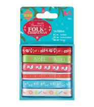 Papermania Folk Christmas 6ct Ribbon