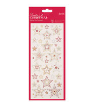 Papermania Create Christmas Glitter Dot Stickers-Stars