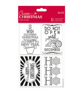 Papermania Create Christmas Mini Clear Stamps-Gift Tags