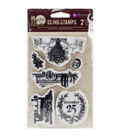 Prima Marketing A Victorian Christmas Stamps-December 25/Merry Christmas