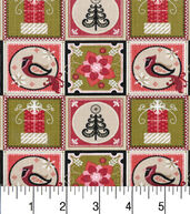 Makers Holiday Cotton Fabric 43inches-Christmas Patches