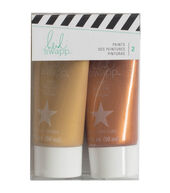 Heidi Swapp Gift Wrapping Paint-Gold  and  Rose Gold