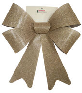 Makers Holiday Christmas 15x19 Bow-Burlap with Glitter
