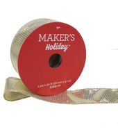 Makers Holiday Christmas Lame Ribbon 1.5X30-Gold  and  Silver
