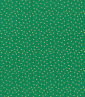 Christmas Cotton Fabric 43inches-Gold Dots Green