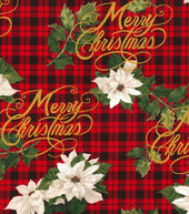 Christmas Cotton Fabric 44inches-Merry Christmas Plaid
