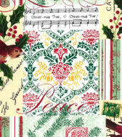 Christmas Cotton Fabric 43inches-Christmas Cardinal Patch