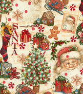 Christmas Cotton Fabric 44inches-Christmas Gifts