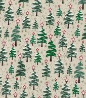 Christmas Cotton Fabric 43inches-Zig Zag Christmas Trees