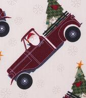 Christmas Cotton Fabric 43inches-Santa Pickup Truck