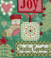 Christmas Cotton Fabric 43inches-Holiday Gift Tags